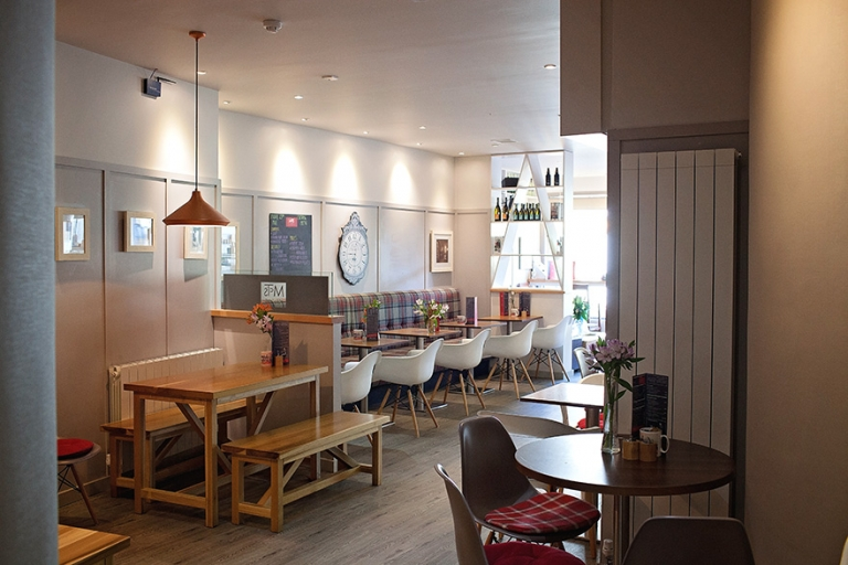 interior of a cafe in Aberdour